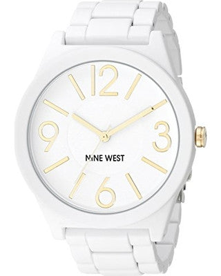Nine West Women's NW/1678WTWT Matte White Rubberized Bracelet Watch - Awesome Imports - 2
