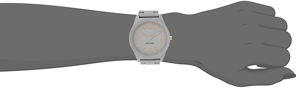 Nine West Women's NW/1678WTWT Matte White Rubberized Bracelet Watch - Awesome Imports - 1