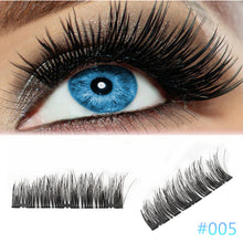 Load image into Gallery viewer, 4Pcs Ultra-thin 0.2mm Magnetic Eye Lashes 3D Reusable False Magnet Eyelash