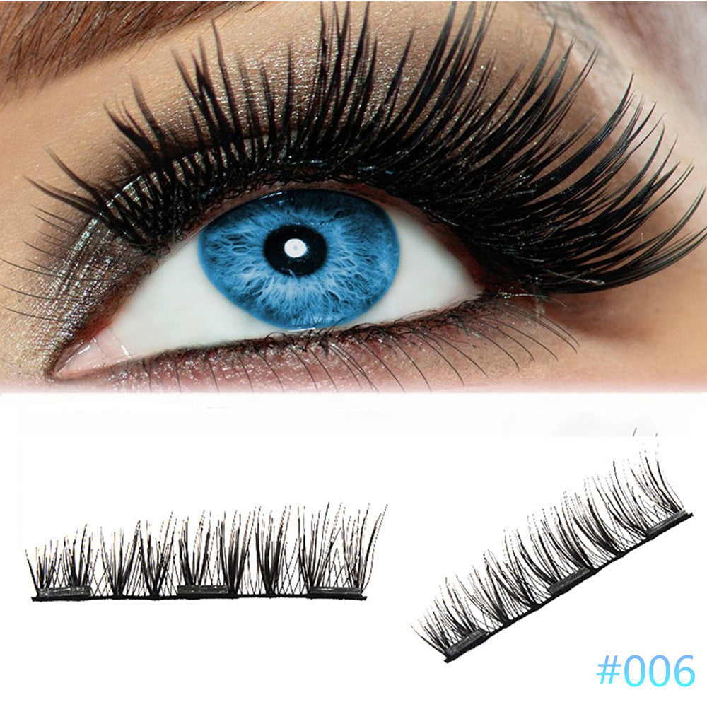 4Pcs Ultra-thin 0.2mm Magnetic Eye Lashes 3D Reusable False Magnet Eyelash