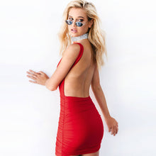 Load image into Gallery viewer, Red Backless Dress