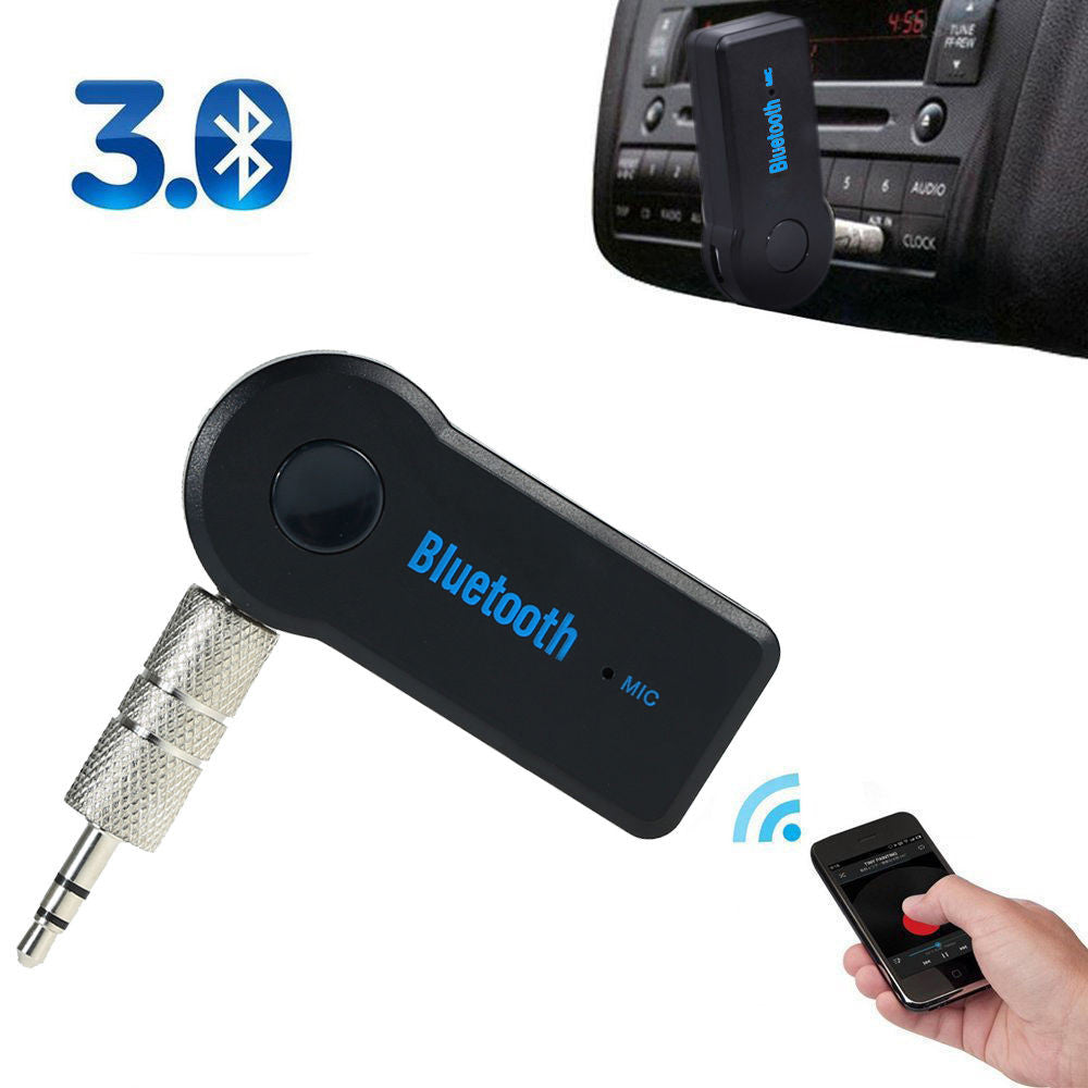 Bluetooth 3.5mm Audio Receiver Adapter with Hands Free Microphone A2DP - Awesome Imports - 3