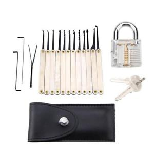 Mihuis Lock Pick Tool Set with Transparent Practice Padlock