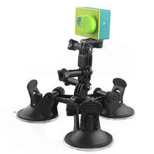 Load image into Gallery viewer, Techme Triple Suction Cup Mount for Xiaomi Yi Go Pro Hero 6 5 4 3 3+