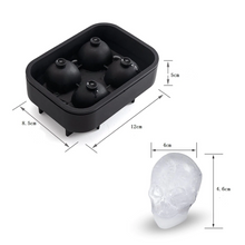 Load image into Gallery viewer, 3D Skull Ice Cube Mold