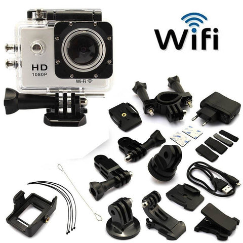 Full HD Sports Action WIFI Cam -  Black - Awesome Imports - 1