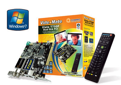 Videomate T750F Dual PCI DVB-T & Analog TV/FM Card with Power Up and Windows Media Center Remote - Awesome Imports
