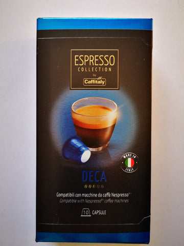 CAFFITALY NESPRESSO® COMPATIBLE CAPSULES - DECA (DECAFFEINATED)