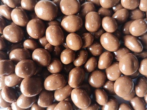 CHOCOLATE COVERED COFFEE BEANS - AMARETTO MILK CHOCOLATE