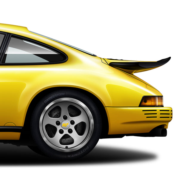 Porsche 911 RUF CTR Yellowbird automotive art print