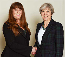Kelly Tolhurst and Theresa May