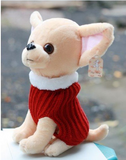 Lovely Little Chihuahua Wearing Sweater Plush Doll Toy