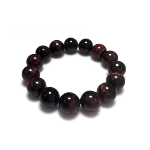 Handmade  Red Tiger eye Bracelet 12 mm