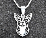 316 STAINLESS STEEL CHIHUAHUA PENDANT NECKLACE