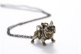 Hippie Chic Vintage French Bulldog Necklace