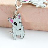 3 Bull Terriers in 1 Keychain