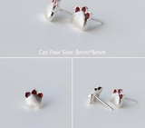 Cat's Paw 925 Sterling Silver Earrings