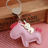 Cute Rabbit Ridding Dog Keychain (Keyring) / Bag Pendant
