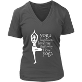 Love Yoga Women's V-Neck (6 colors, 7 sizes)