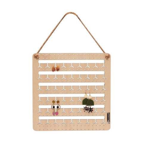 NATURAL WOOD - HANGING BUNNY-NOSE™ EARRING HOLDER