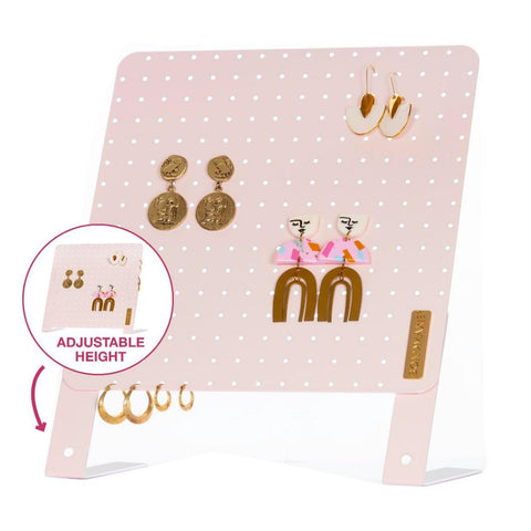Height Adjustable Earring Holder - PINK