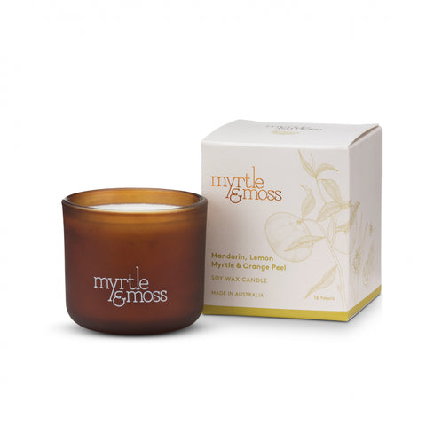 MINI SOY WAX CANDLES MANDARIN, LEMON MYRTLE & ORANGE PEEL
