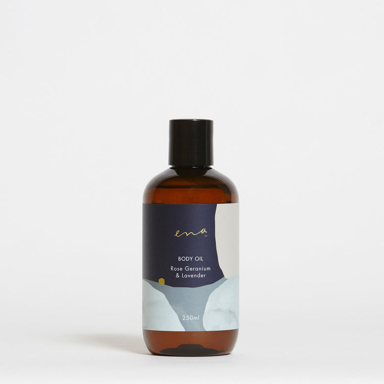 ENA Body Oil - Rose Geranium & Lavender 250ML