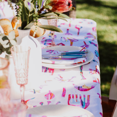 Table Cloth || White Neon Natives