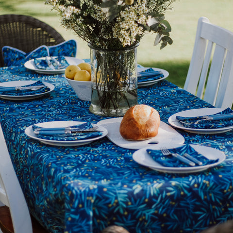 Table Cloth || Navy Wattle