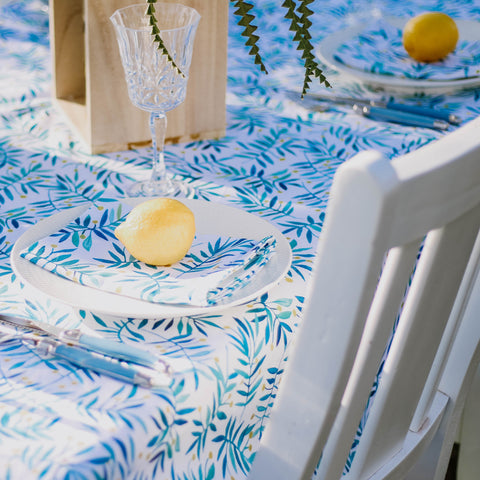 PRE ORDER FOR NOV DELIVERY - Table Cloth || White Wattle
