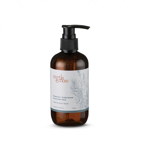 HAND & BODY WASH LAVENDER BUD, ROSEMARY & CEDARWOOD