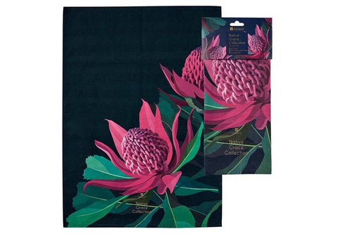 Native Grace Waratah Kitchen Towel