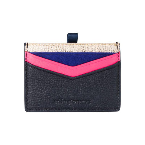 Alexis Card Holder - Rose Gold to Navy