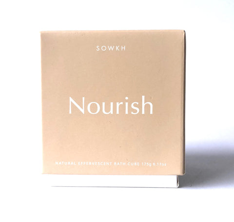 NATURAL EFFERVESCENT BATH CUBE - NOURISH
