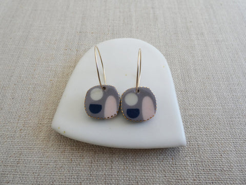 Boro Ceramic Hoop Earrings