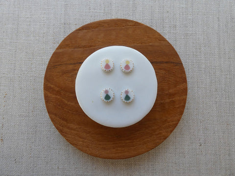Echo Inlay Studs - Ceramic
