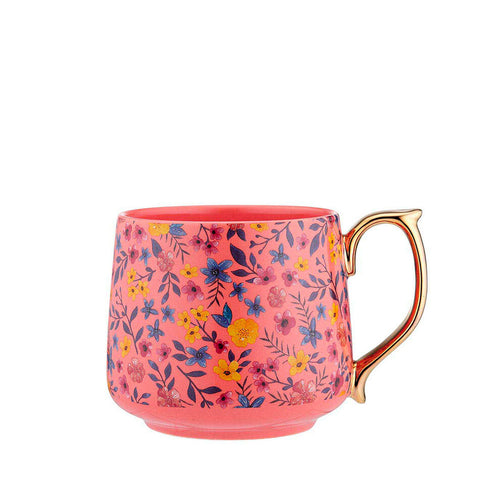 Flowering Fields Mug - Peach