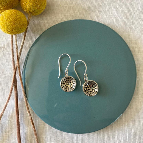 Greenwood Sterling Silver - Hammered Domes
