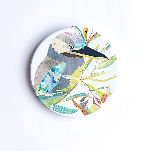 Blue-Winged Kookaburra Ceramic Coaster