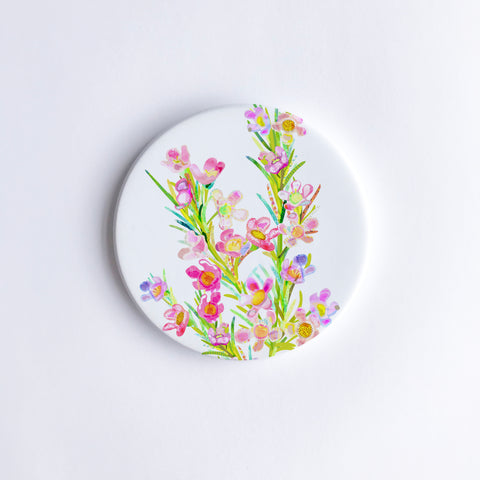 Geraldton Wax Ceramic Coaster {Dispatch from Feb 21st}
