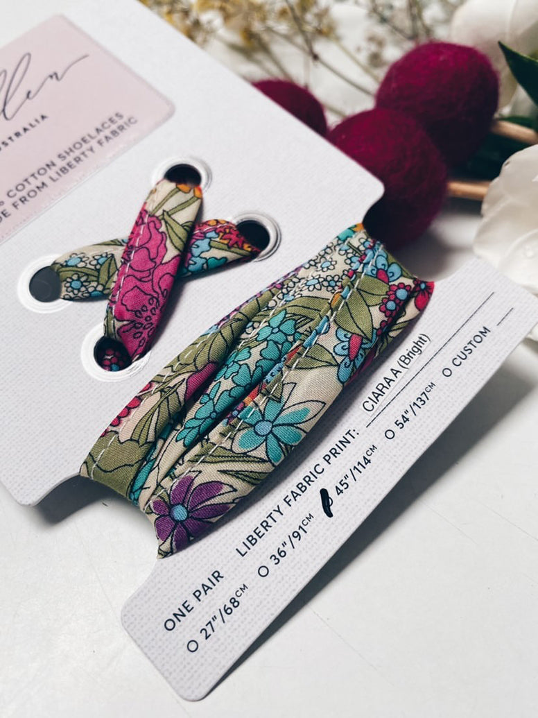 LIBERTY FABRIC SHOELACES // Made with Liberty Fabric - Ciara A Bright