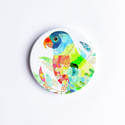 Lorikeet Ceramic Coaster {Dispatch from Feb 21st}