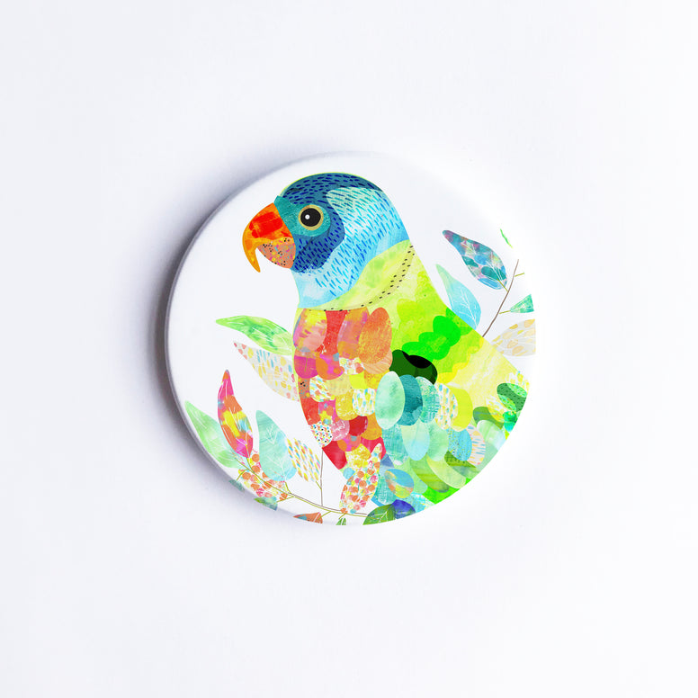 Lorikeet Ceramic Coaster