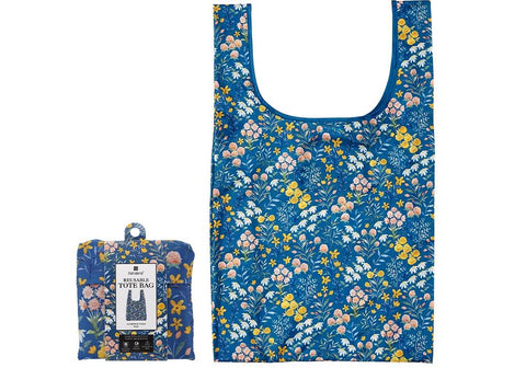 Flowering Fields Blue Shopping Bag