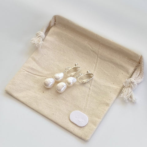 JULIA - Freshwater Pearl Clip-on Earrings