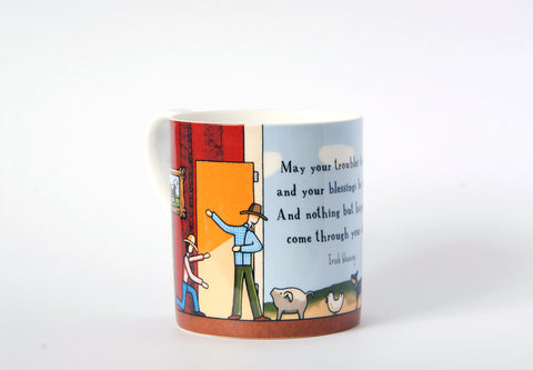 A Warm Welcome 15oz Large Bone China Cup