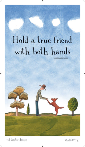 Linen Tea Towel - True Friends