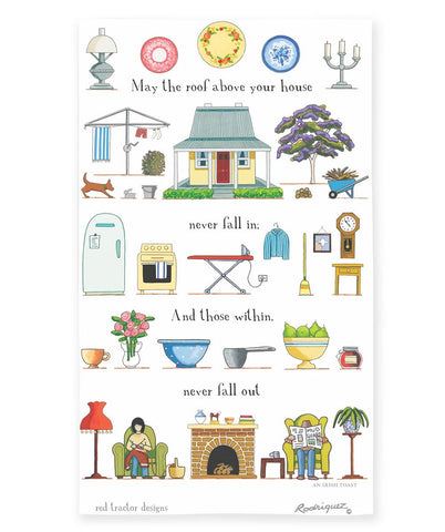 Linen Tea Towel - Safe & Sound