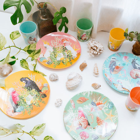 Plate Set Coastal Abode