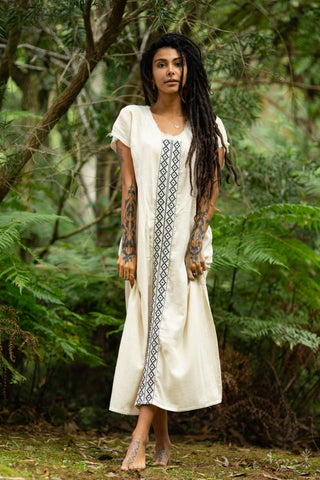 Utopian Spirit Cotton Dress (White) - Festival Clothing Bohemian Gypsy Hippie Wild Sexy Boho
